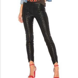 Blank NYC Easy Street Vegan Leather Lace Up Pants